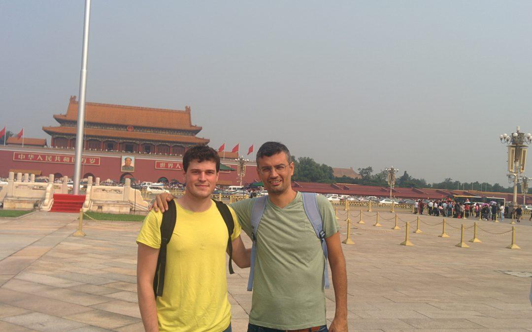 Mao Tse-Tung, Jaime Font and David Benavides in Tian'anmen Square during SPLC'16 (Beijing, China)